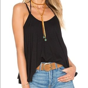 Black Free People So In Love With You Tank